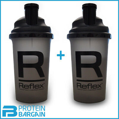 2 X Reflex Shaker Protein Mixer Bottle For Mixing Protein Bcaa