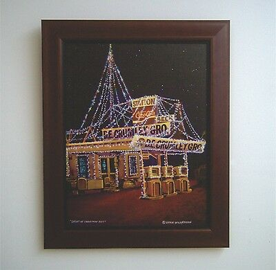 """16"""" X 20"""" Canvas Print of D.E.Crumley's Store"""