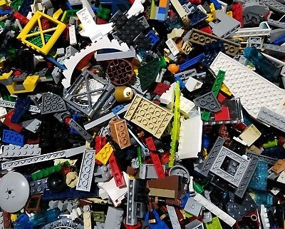 Lego Lot of 200 Pieces Parts Bricks Random Bulk Assorted Clean STEM Building Toy