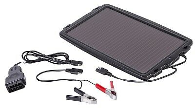 Solar Powered Car Caravan Battery Charger 12V Vehicle Trickle Maintainer Black