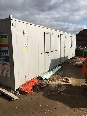 Large 30ft x 9ft Welfare Unit, Site Office and Canteen, Dry Room with Toilet