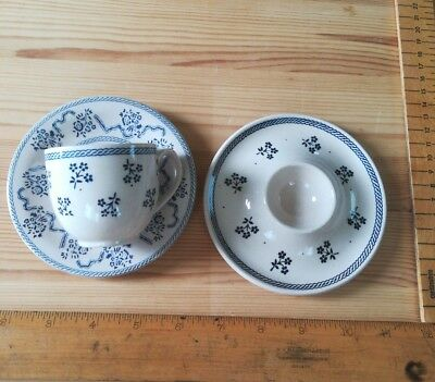 Petite Fleur Johnson Brothers coffee cup & saucer & egg cup Laura Ashley VINTAGE