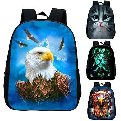 Aquila Zaino Animali 3D Scuola Tempo libero Animal Backpack School Bag ZANIM09 P