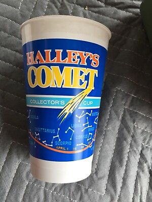 Halleys Comet Commemorative Plastic Cup 1984 Sweetheart