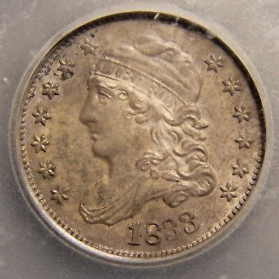 1833 Capped Bust Half Dime, LM-10, MS-64