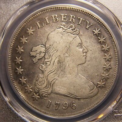 1796 Draped Bust Dollar, Small Date, Large Letters, PCGS F-12