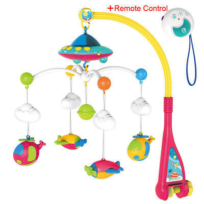 Baby Musical Mobile Projection Nursery Lights, Bed Crib Cot with Remote Control