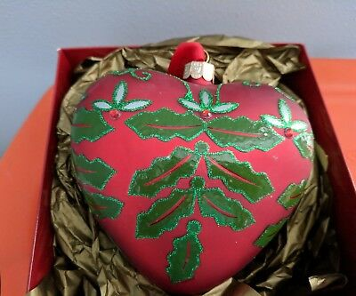 Waterford Holiday Heirlooms Holly Jolly Heart Ornament Mint New in Box