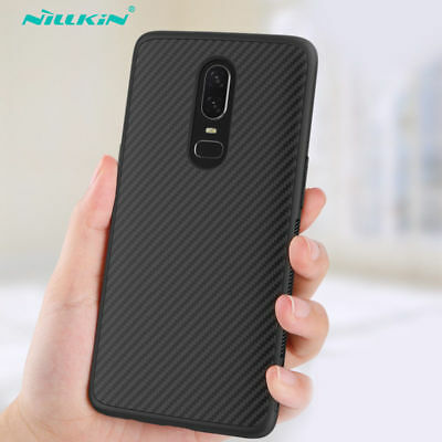 NILLKIN Unique Full Cover Slim Fiber Synthetic Ultra Carbon Case For OnePlus 6