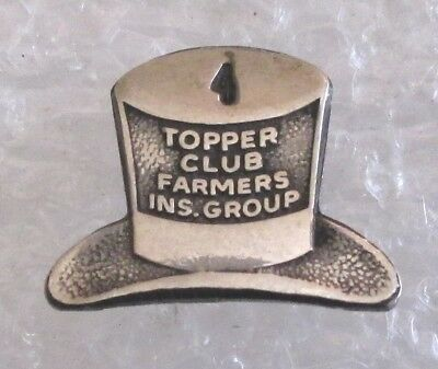 Vintage Farmers Insurance Group Topper Club 4 Years Award Pin-Sterling Silver