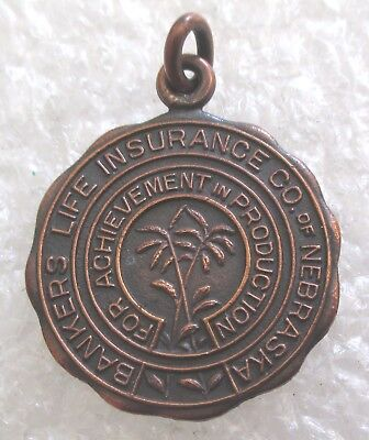 Vintage Bankers Life Insurance Company of Nebraska Achievement Award Charm-1933