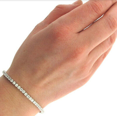 bf66677e86e008 18K White Gold Filled Made With Swarovski Crystal Round Heart Tennis  Bracelet