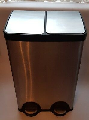 Dustin Double Compartments Bin With Double pedal