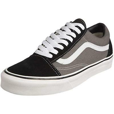 730a17af02d7 Vans Classic Old Skool Canvas Black Pewter Mens Womens Shoes All Sizes NEW