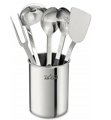 BRAND NEW - All-Clad TSET1 Stainless Steel Kitchen Tool Set, 6-Piece, Silver
