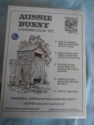 Aussie Dunny Wooden Construction Kit - NEW In Box