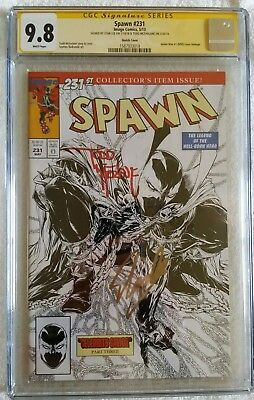 Spawn 231 Cgc Ss Sketch Cover Signed By Todd Mcfarlane And Stan Lee 9.8