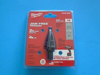 Milwaukee 48-89-9209 #9 Step Drill Bit, 7/8 in. & 1-1/8 in.