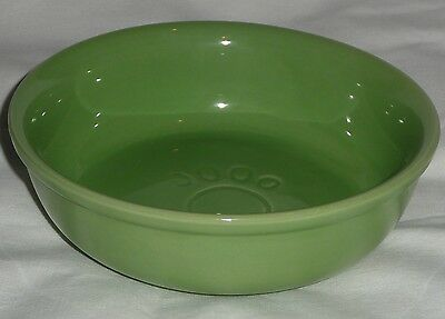 Medium 15.3cm GREEN CERAMIC CAT DISH  Water/Food NEW Kitten Pet Animal Dog Bowl
