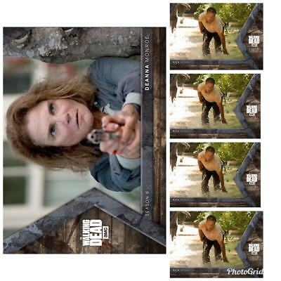 INTO THE HUNT WAVE 3 DEANNA + 4x RICK (PANIC) Topps Walking Dead Trader Digital