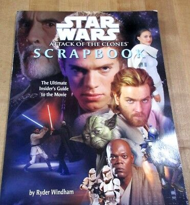 Star Wars Attack of the Clones Scrapbook Insiders Guide 2002 paperback