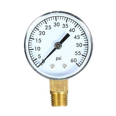 0~60psi Mechanical Water Air Pressure Gauge Meter with 50mm Dial U3K0