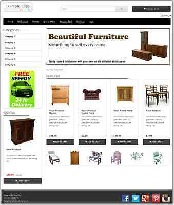Shopping Cart eCommerce Website Site Design inc 12 months Hosting/Support