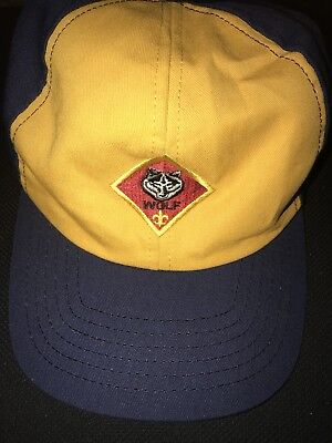 Boy Scouts of America Cub Scout Wolf Hat Cap with Adjustable Snap Fit Strap
