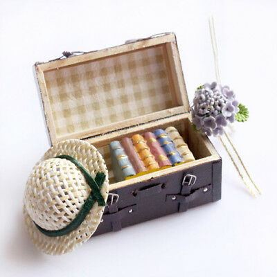 Dollhouse Miniature Carrying Vintage Suitcase Luggage Decor Drop Shipping