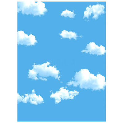 3x5ft Blue Sky White Cloud Photography Backdrop Screen Background Studio Prop A8