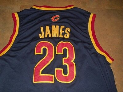 LeBron James jersey Cleveland Cavaliers sz 3XL   XXXL RaRe swingman sewn on  BLUE 079c8d6d8