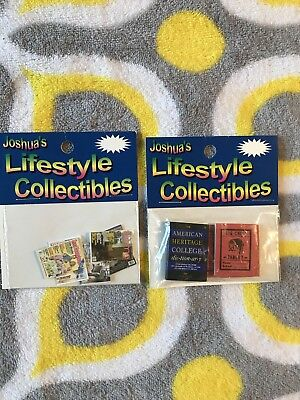 Lot of 2 Joshua's Lifestyle Collectibles Scrapbooking Dollhouse Minis Brand New