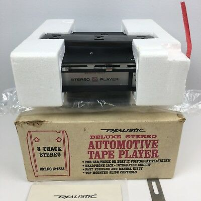 NOS OEM Box Realistic Stereo 8 Automotive Car 8-Track Tape Player 12-1832 1a-3