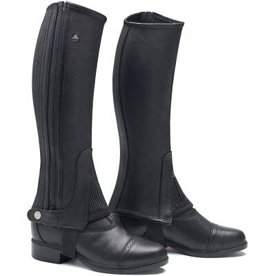 Mountain Horse Soft Rider Unisex Footwear Chaps - Black All Sizes