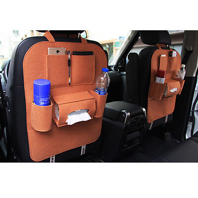 Car Storage Bag Universal Seat Back Organizer Felt Backseat Storage Bag Tidying
