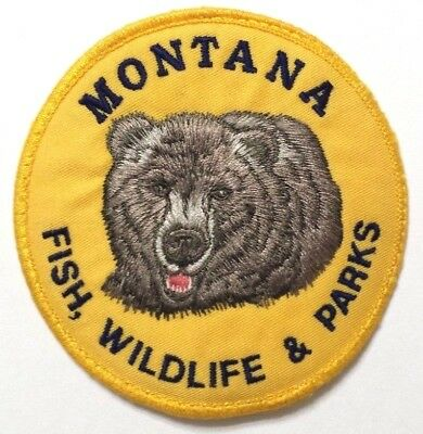 """State of Montana Department of Fish, Wildlife & Parks (4"""") Uniform Patch"""