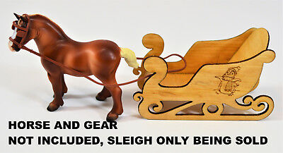 Miniature Sleigh Wooden Poplar Carved, Sized For Breyer Stablemates Tiny Horses