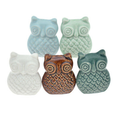 Vintage Ceramic Owl Cabinet Drawer Knob Pull Cupboard Handle Home Hardware 1 Pc