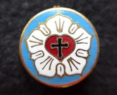 ROSE CROIX LUTHERIEN (LUTHER ROSE SEAL LUTHERAN SYMBOL) broche epingle