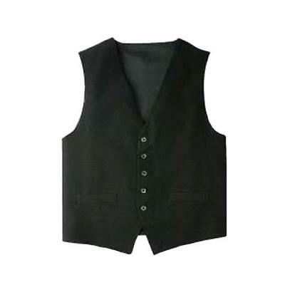Chef Works - VPME-BLK-XS - Black Vest (XS)