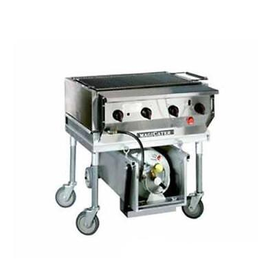 """MagiKitch'n - LPAGA-30-SS - 30"""" Magicater Deluxe Portable Outdoor LP Charbroiler"""