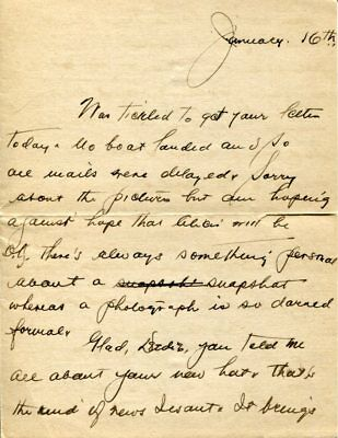Unknown 1918 WWI Fort Michie Great Gull Island New York Signed Autograph Letter