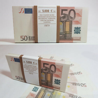 €5,000 - for drawing /movies /film /as a gift Prop money €50