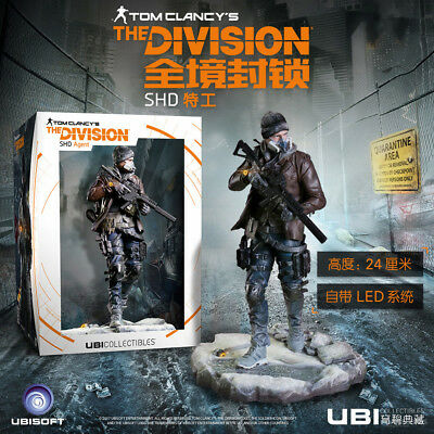 EA The Division SHD Agent  Tom ClancyS  Figure Statue W/LED Toys 24cm In BOX