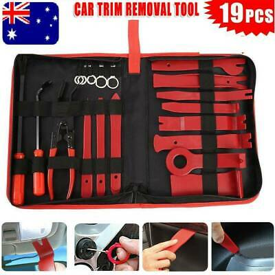 19X Car Door Panel Trim Clip Removal Plier Upholstery Radio Pry Bar Tool Kit AU