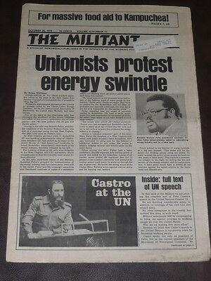 The Militant newspaper/Oct 26 1979/Castro UN/Chrysler Crisis/Gay Rights March