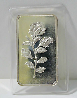 PAMP ROSE 1 TROY OZ .999 SILVER ART BAR MINT SEALED COLLECTABLE COMMERCIAL Ag