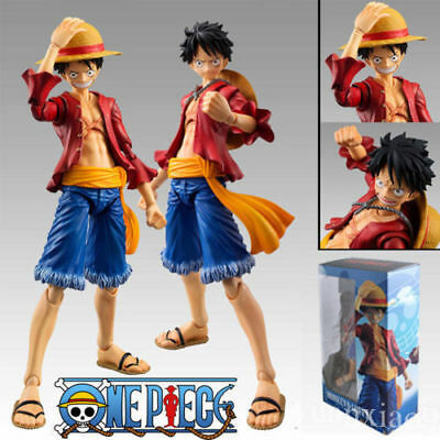 c1ed80fe0 New Anime Figma One Piece Straw Hat Monkey D Luffy PVC Action Figure Toy