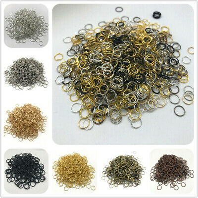 4/6/8/10mm Metal Open Jump Rings Split Rings Connectors For DIY Jewelry Making