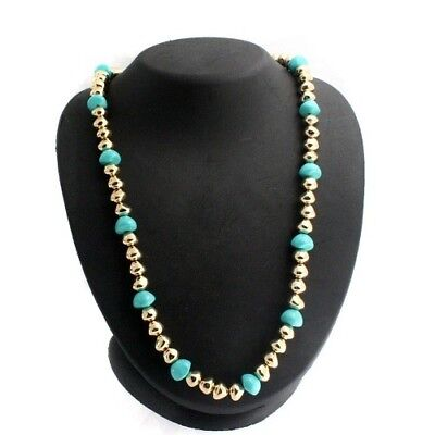 "QVC Francesca Visconti's Goldtone Baroque Bead 24"" Necklace Cyber Monday"